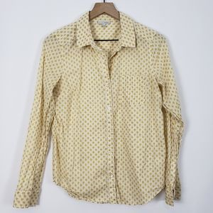 Halogen Green/Yellow Apple Button Up Blouse S